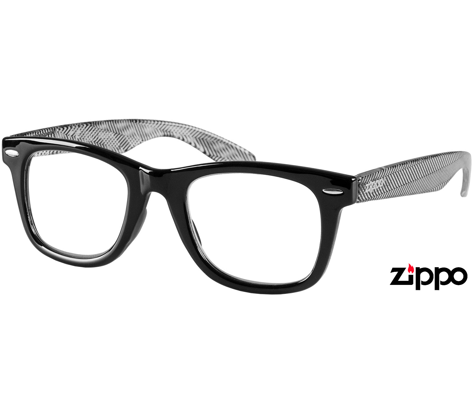 Main Image (Angle) - Soho (Black) Retro Reading Glasses