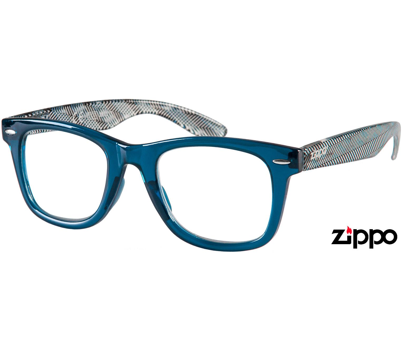 Main Image (Angle) - Soho (Blue) Retro Reading Glasses