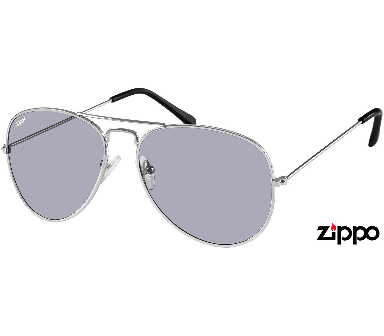Main Image (Angle) - Rio (Silver) Aviator Sunglasses