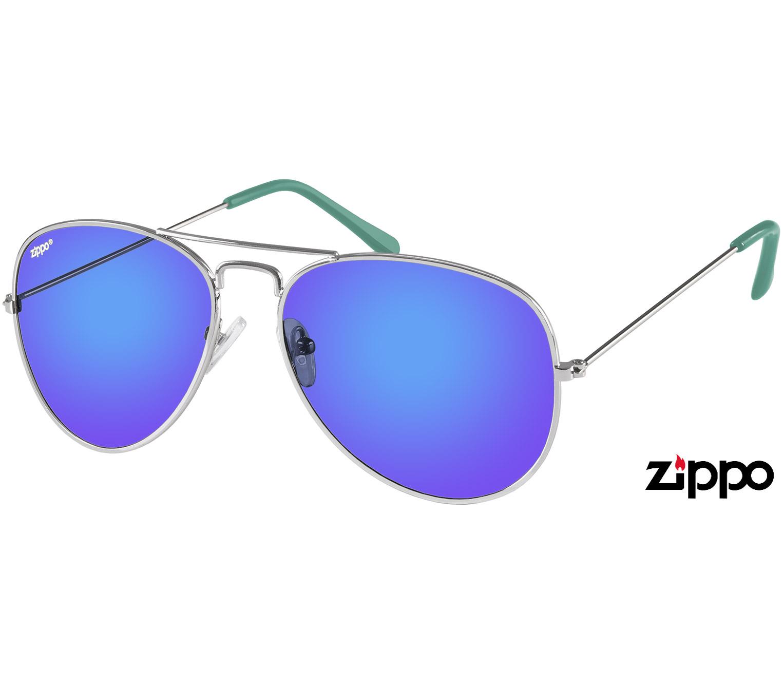 Main Image (Angle) - Pilot (Blue) Aviator Sunglasses
