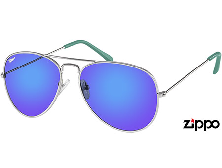 Pilot (Blue) Aviator Sunglasses - Thumbnail Product Image