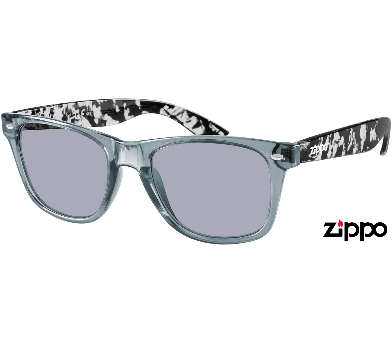 Main Image (Angle) - Spectrum (Grey) Wayfarer Sunglasses