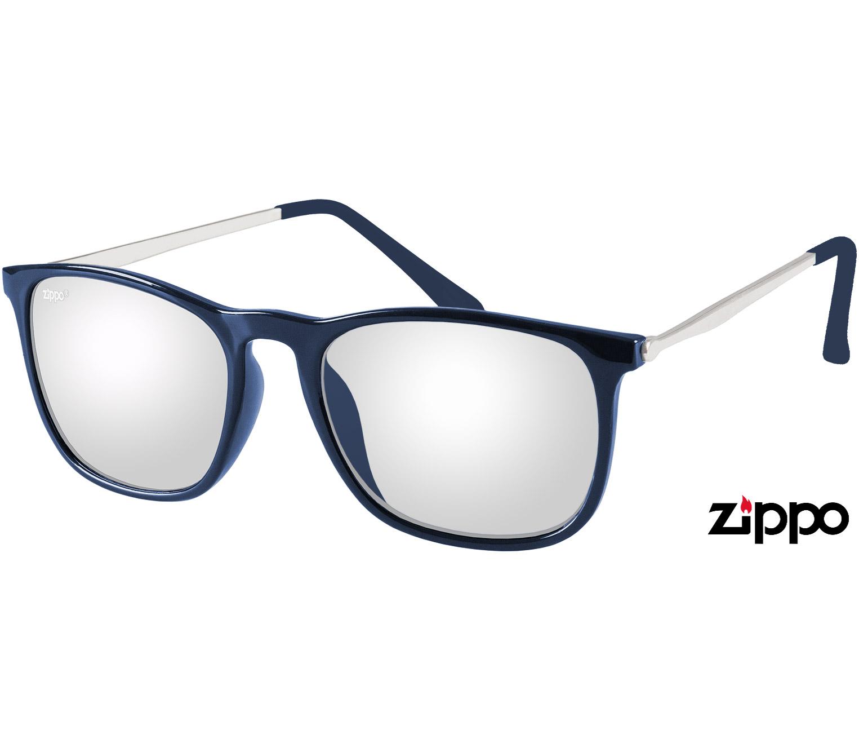 Main Image (Angle) - Skate (Blue) Retro Sunglasses