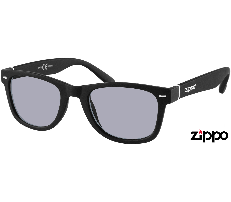 Main Image (Angle) - Primo (Black) Wayfarer Sunglasses