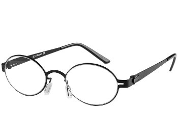 Pensive (Black) Retro Reading Glasses