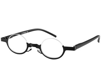 Igloo (Black) Semi-rimless Reading Glasses
