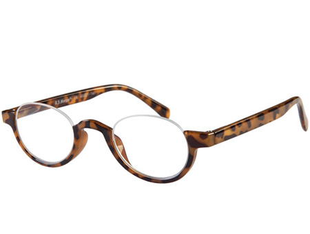 Spooky (Tortoiseshell) Semi-rimless Reading Glasses - Thumbnail Product Image