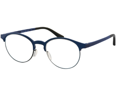 Chester (Blue) Round Reading Glasses - Thumbnail Product Image