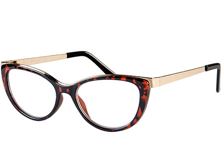 Valentina (Tortoiseshell) Cat Eye Reading Glasses - Thumbnail Product Image