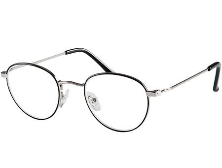 Oxford (Black) Retro Reading Glasses - Thumbnail Product Image