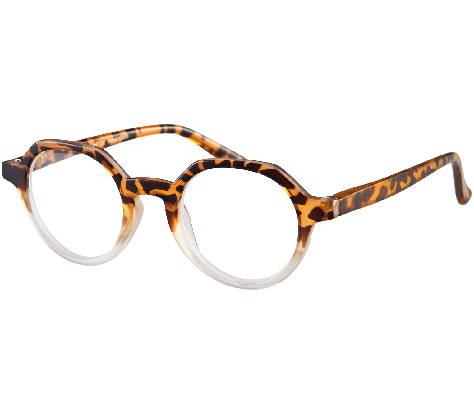 Main Image (Angle) - Montrose (Tortoiseshell) Retro Reading Glasses