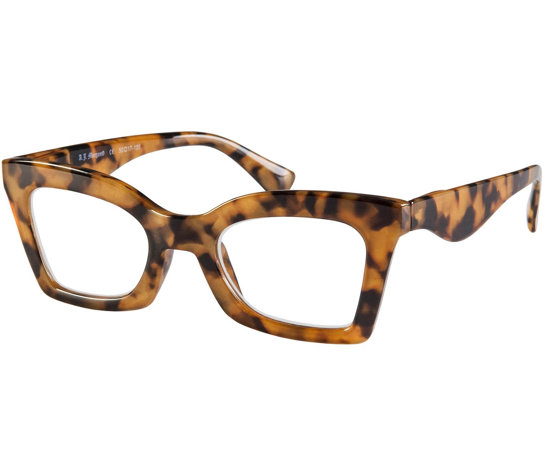 Main Image (Angle) - Ginger (Tortoiseshell) Cat Eye Reading Glasses