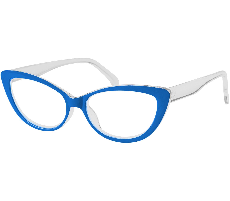 Main Image (Angle) - Milkshake (Blue) Cat Eye Reading Glasses