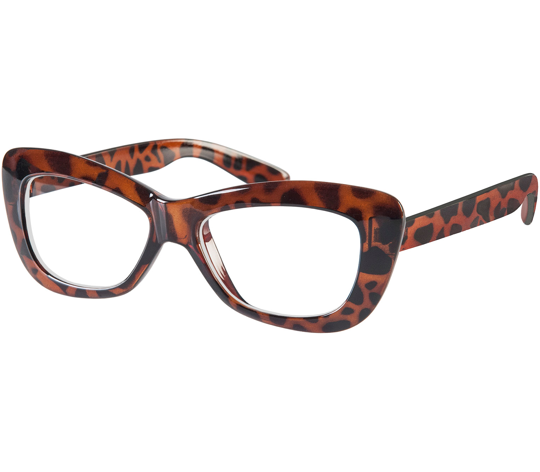 Main Image (Angle) - Crushed (Tortoiseshell) Cat Eye Reading Glasses