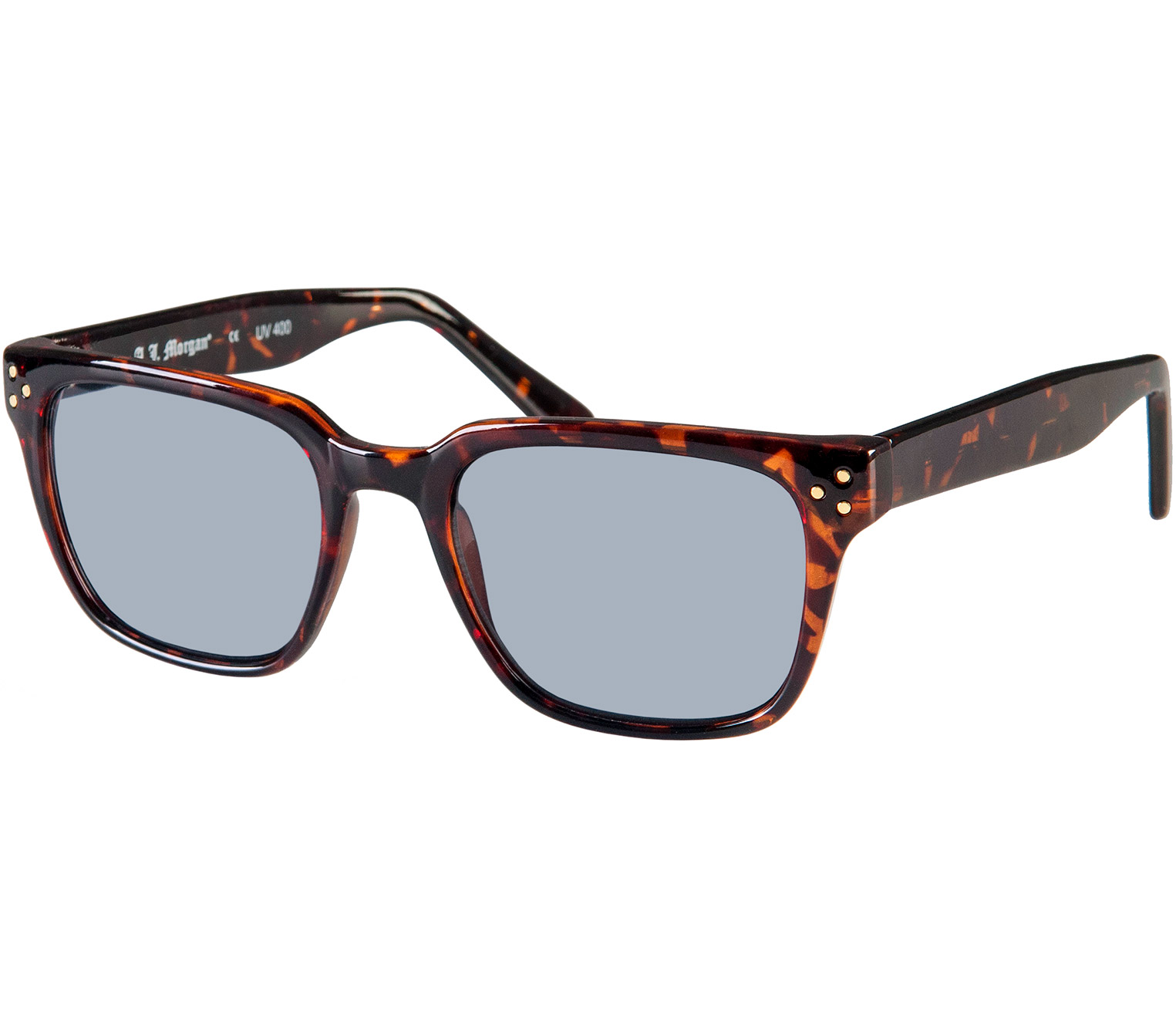 Main Image (Angle) - Morgan (Tortoiseshell) Retro Sun Readers