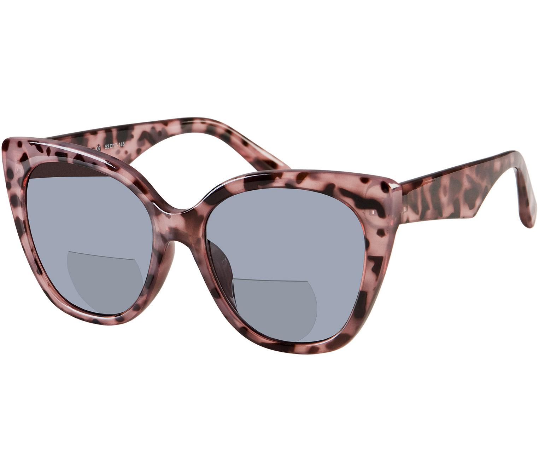 Main Image (Angle) - Solar (Pink Tortoise) Bifocal Sun Readers