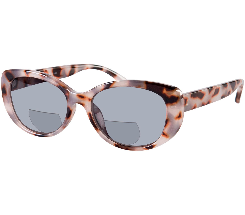 Main Image (Angle) - Gatsby (Grey Tortoise) Bifocal Sun Readers