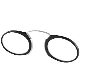 Mandarin (Black) Pince Nez Reading Glasses - Thumbnail Product Image