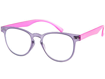 Ascot (Purple) Retro Reading Glasses