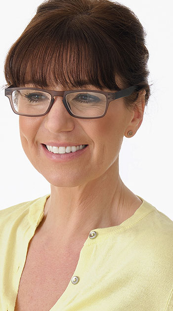 Sugar (Grey) Classic Reading Glasses - Thumbnail Model Image