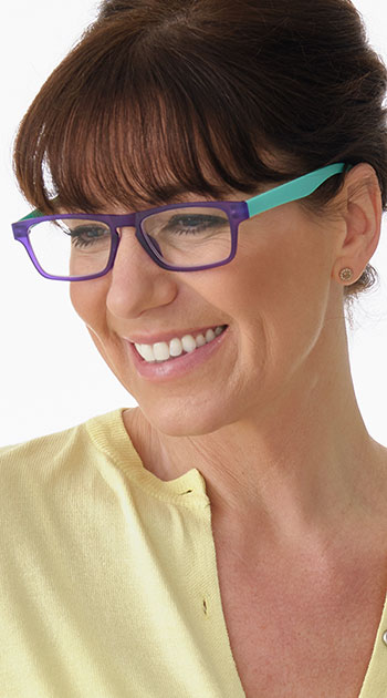 Sugar (Purple) Classic Reading Glasses - Thumbnail Model Image