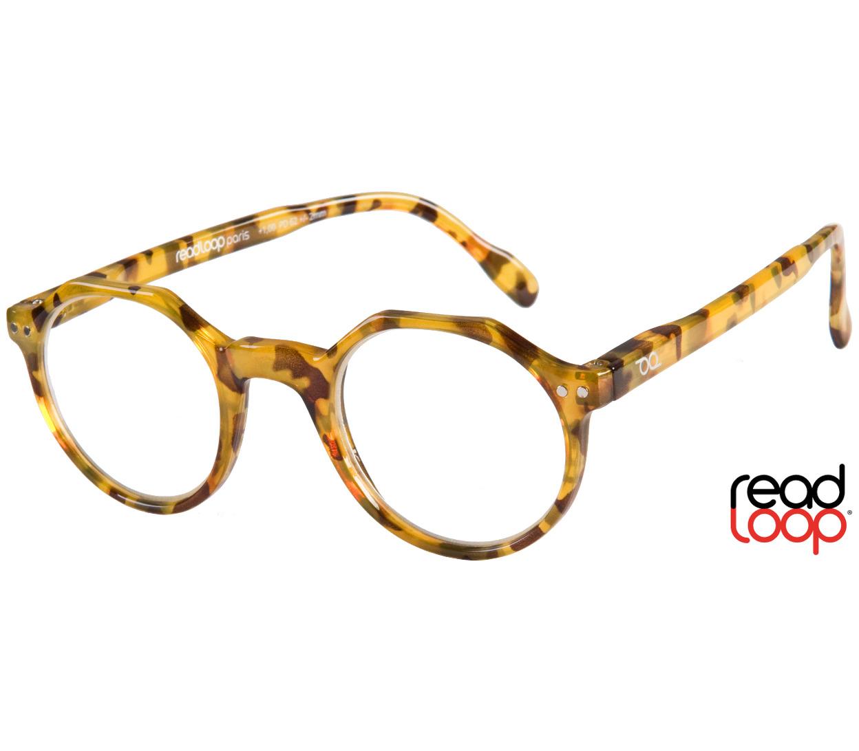 Main Image (Angle) - Hurricane (Honey Pearl) Retro Reading Glasses
