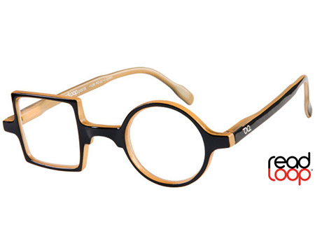 Patchwork (Black) Retro Reading Glasses - Thumbnail Product Image
