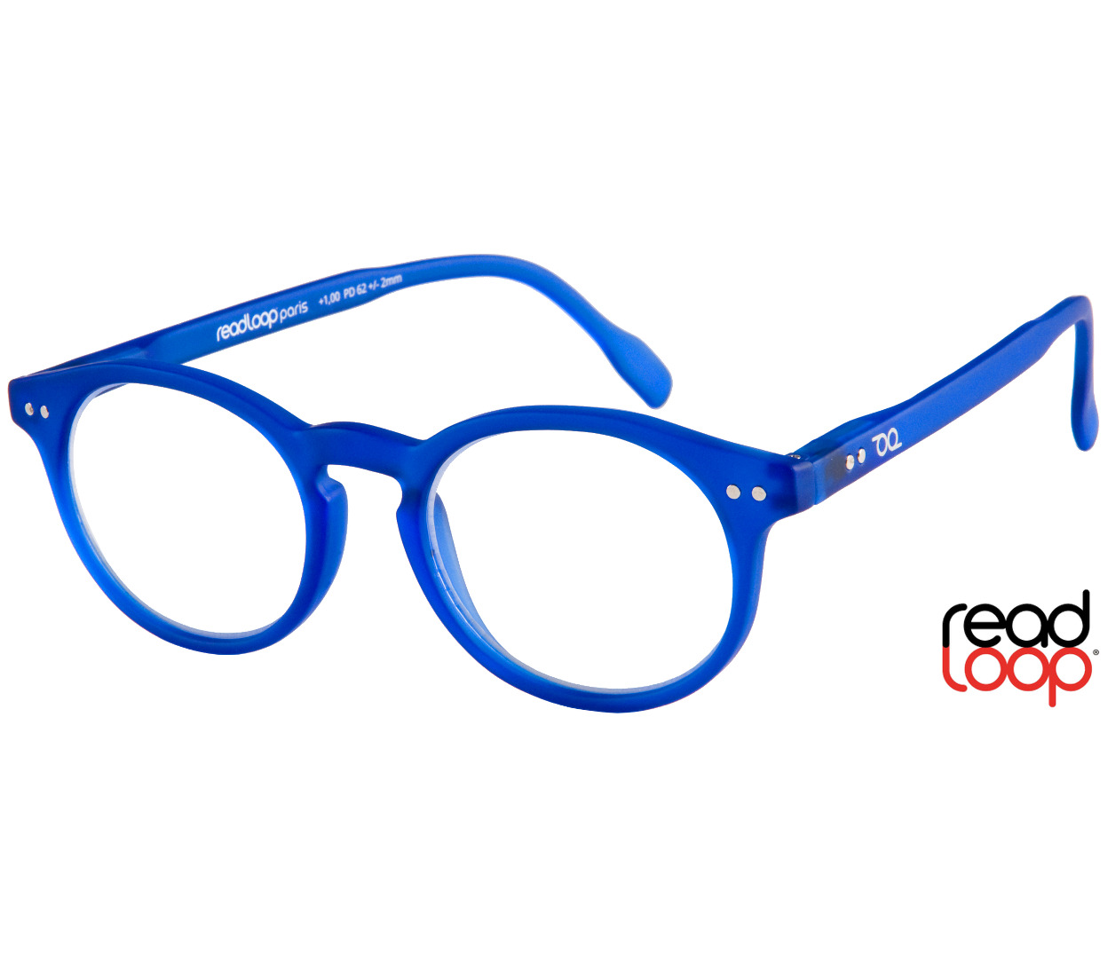 Main Image (Angle) - Nevada (Blue) Retro Reading Glasses