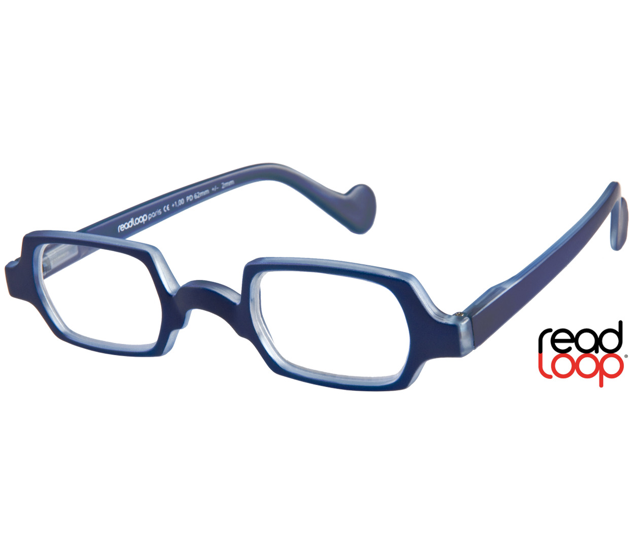 Main Image (Angle) - Culture (Blue) Retro Reading Glasses