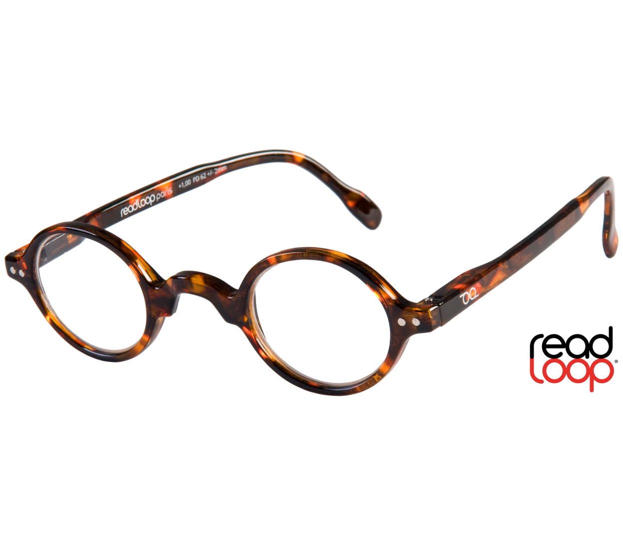 Main Image (Angle) - Legend (Tortoiseshell) Retro Reading Glasses