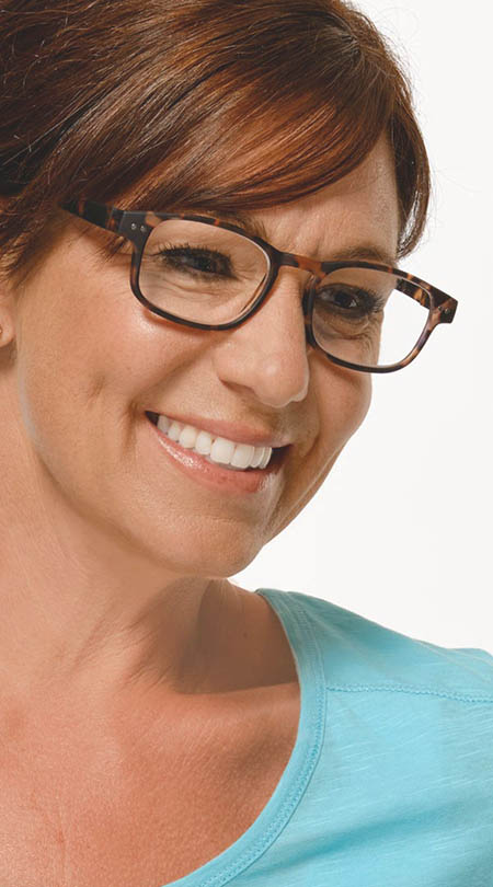 Manta (Tortoiseshell) Classic Reading Glasses - Thumbnail Model Image