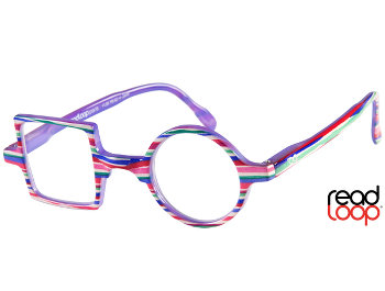 Patchwork (Multi) Retro Reading Glasses - Thumbnail Product Image