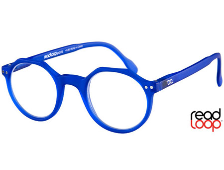 Hurricane (Blue) Retro Reading Glasses - Thumbnail Product Image