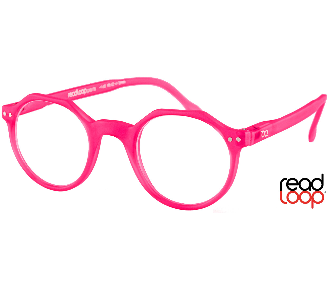 Main Image (Angle) - Hurricane (Pink) Retro Reading Glasses