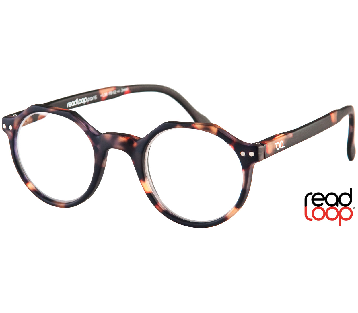 Main Image (Angle) - Hurricane (Tortoiseshell) Retro Reading Glasses