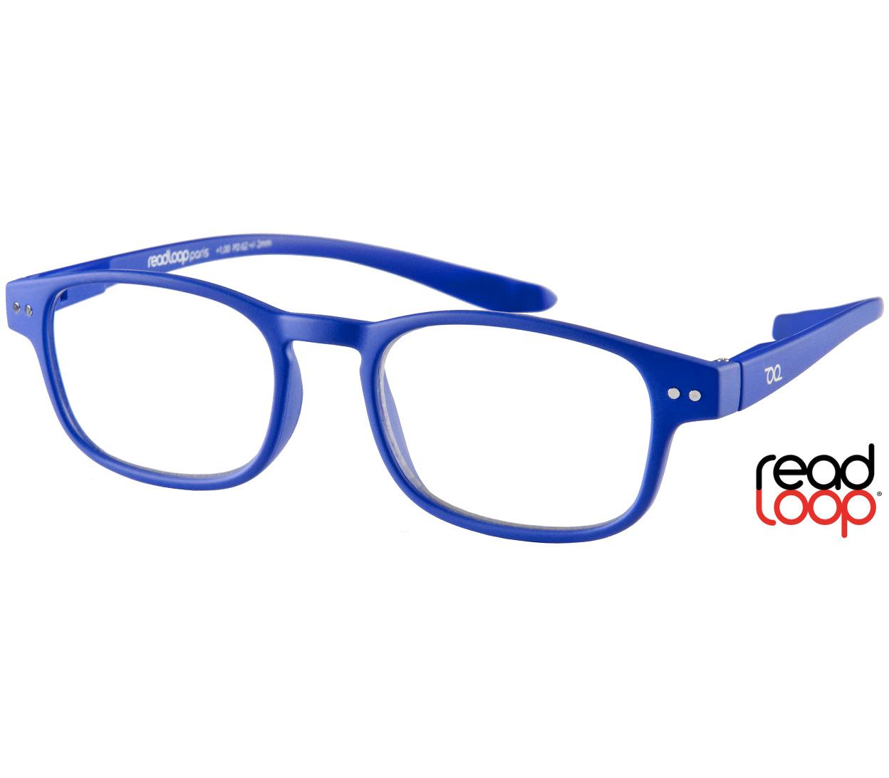 Main Image (Angle) - Manta (Blue) Classic Reading Glasses