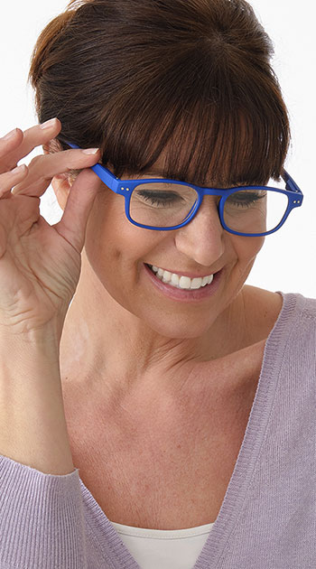 Manta (Blue) Classic Reading Glasses - Thumbnail Model Image