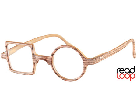 Patchwork (Wood Effect) Retro Reading Glasses - Thumbnail Product Image