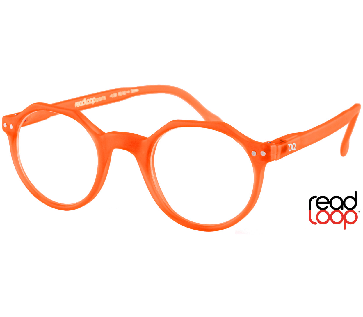 Main Image (Angle) - Hurricane (Orange) Retro Reading Glasses