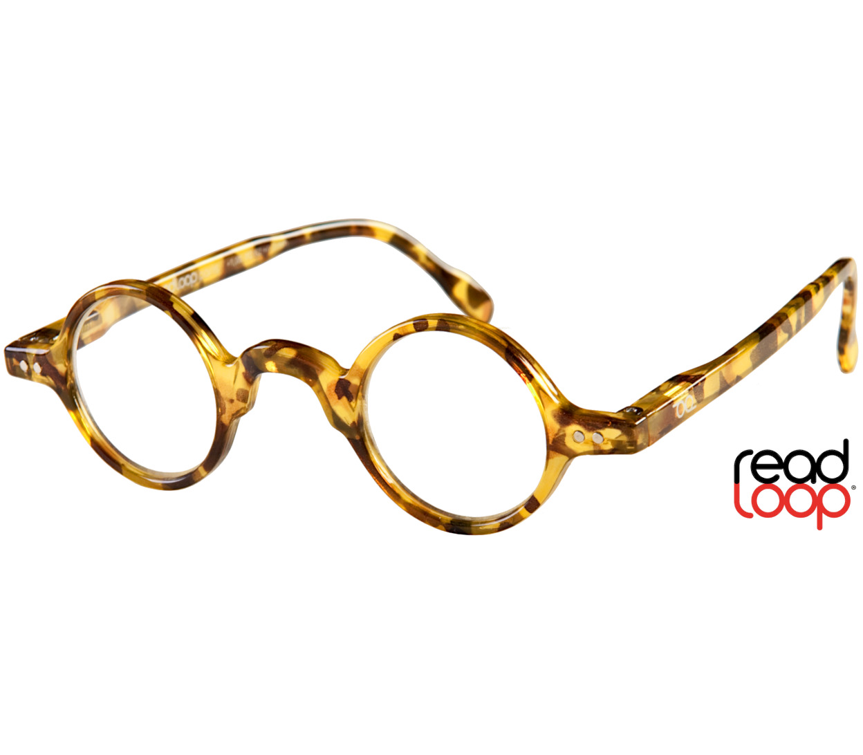 Main Image (Angle) - Legend (Honey Pearl) Retro Reading Glasses