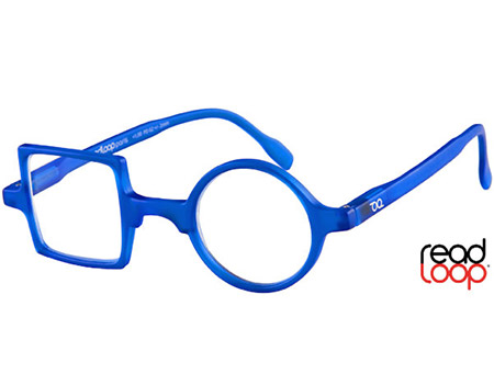 Patchwork (Blue) Retro Reading Glasses - Thumbnail Product Image