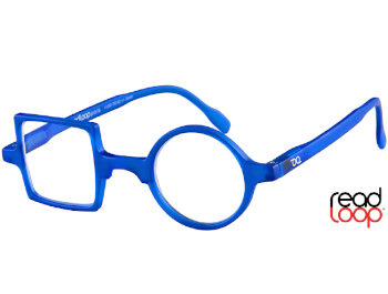 Patchwork (Blue) Retro Reading Glasses