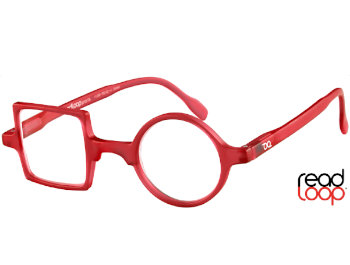 Patchwork (Red) Retro Reading Glasses - Thumbnail Product Image