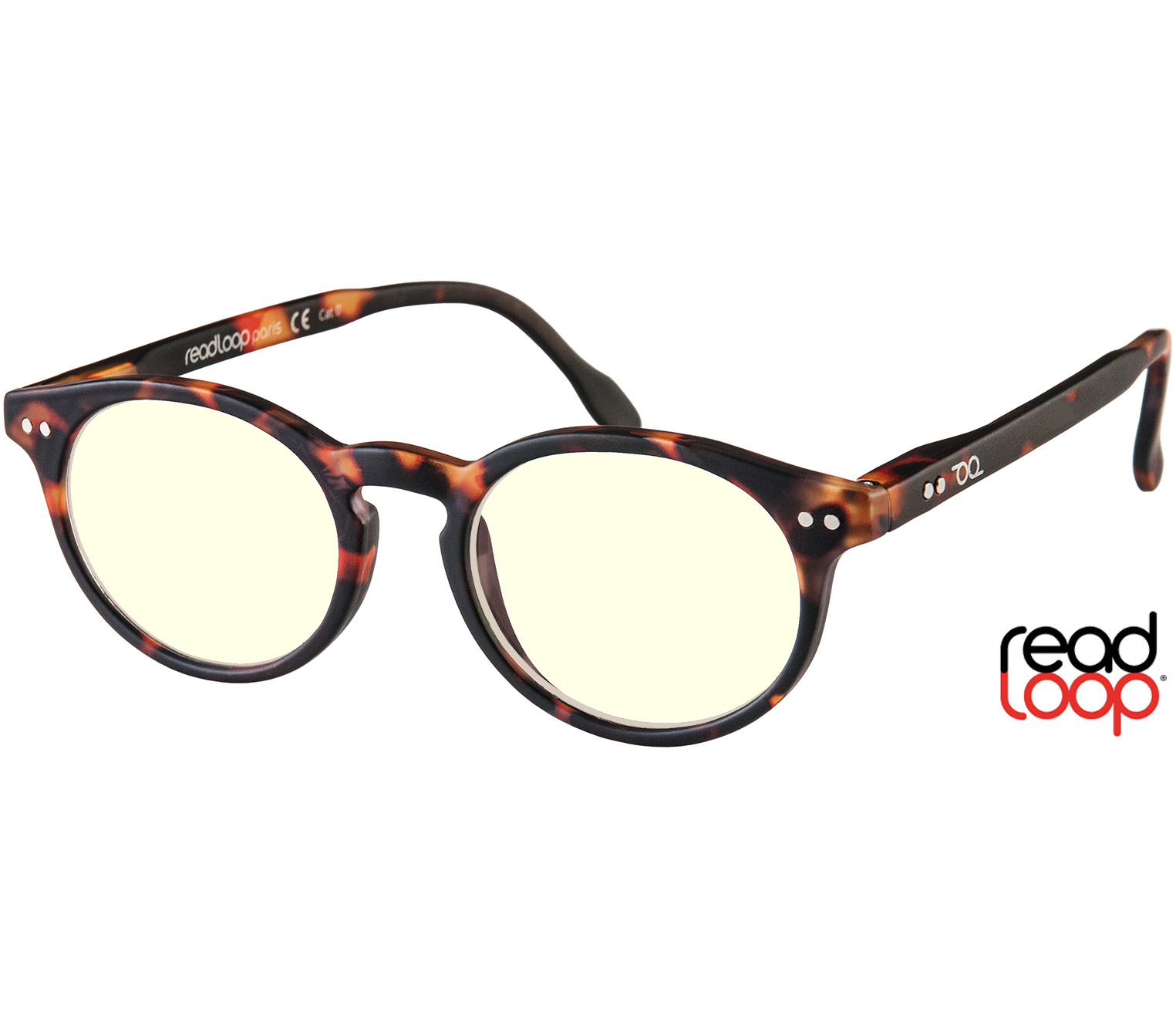 Main Image (Angle) - Logic (Tortoiseshell) Blue Light Glasses Reading Glasses