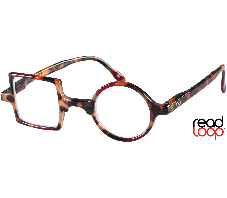 Main Image (Angle) - Patchwork (Tortoiseshell) Retro Reading Glasses
