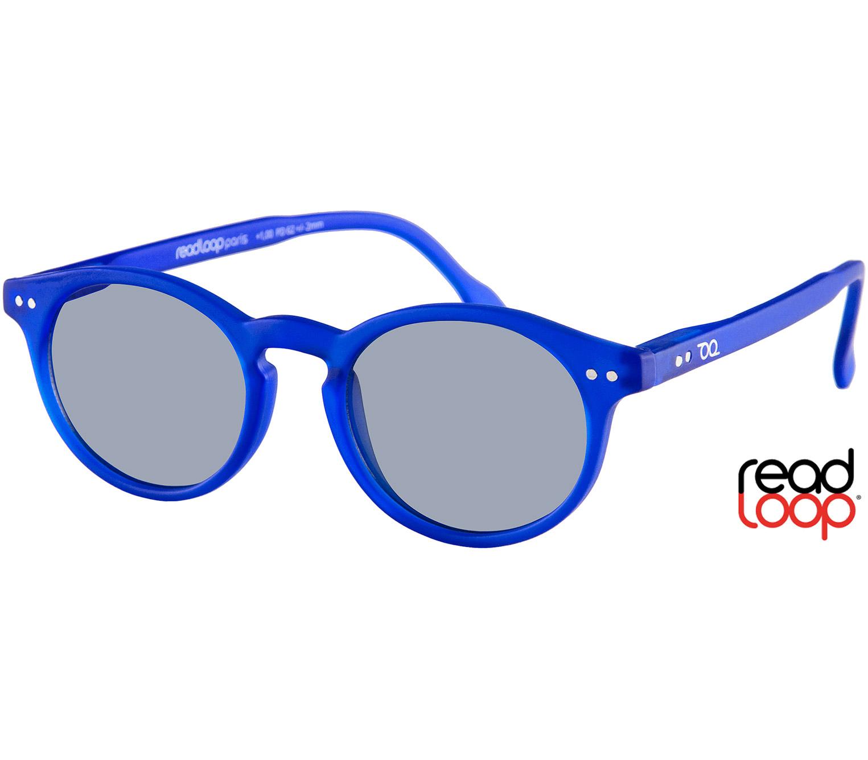 Main Image (Angle) - Bounce (Blue) Retro Sun Readers