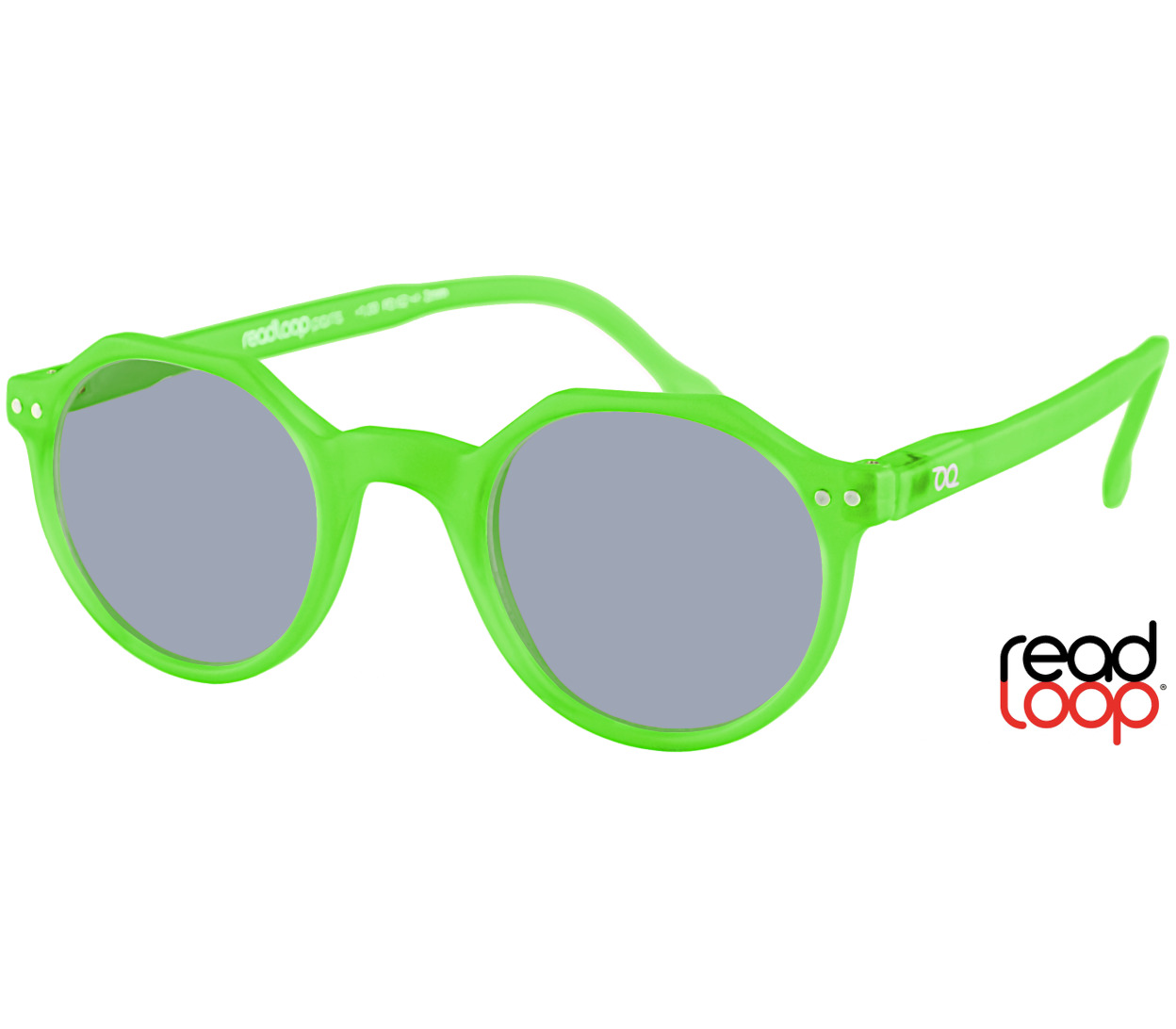 Main Image (Angle) - Oasis (Green) Retro Sun Readers