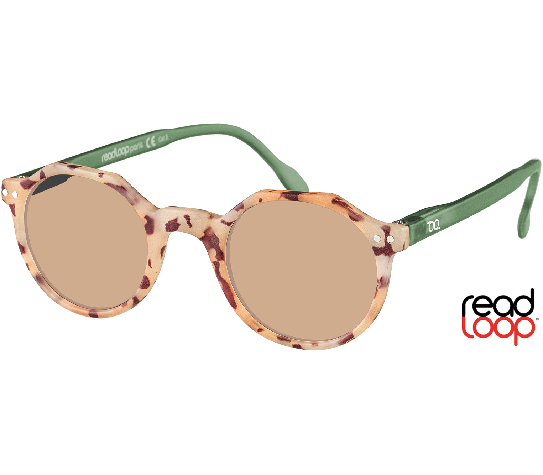 Main Image (Angle) - Oasis (Blond Tortoise) Retro Sun Readers