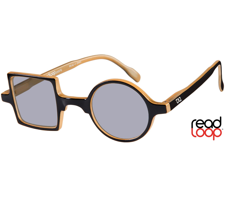Main Image (Angle) - Picasso (Black) Retro Sunglasses