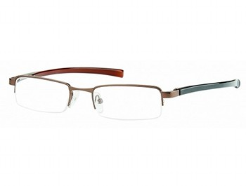 Detroit (Brown) Semi-rimless Reading Glasses